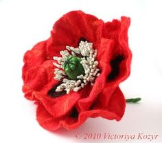 """Шерстяная ювелирка"" Виктории Козырь Fabric Flower Tutorial, Fabric Flowers, Floral, Burlap Flowers, Flowers, Flower"