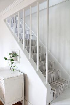 Hardwood Stairs Makeover with Annie Selke's Dash and Albert - Farmhouse on Boone