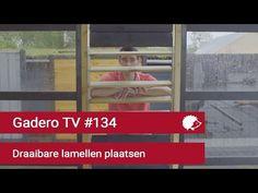 #134 Draaibare Lamellen plaatsen - YouTube Shutters, The Outsiders, Louvre, Windows, Interior Ideas, Glass House, Blinds, Shades, Window Shutters