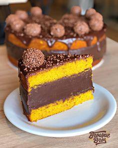 Brownie Desserts, Cute Desserts, No Bake Desserts, Delicious Desserts, Yummy Food, Cake Recipes, Dessert Recipes, Travel Cake, Recipes With Whipping Cream