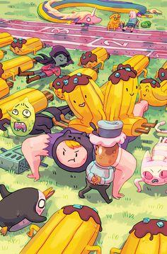 Carey Pietsch's cover for Banana Guard Academy #4,