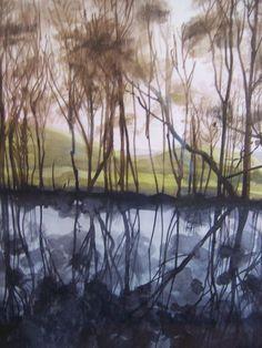 The Chinese Lakes, Toward, Argyll - Watercolour