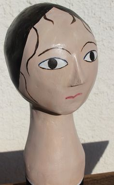French Papier Mâché Mannequin Head Bust by LePasseRecompose