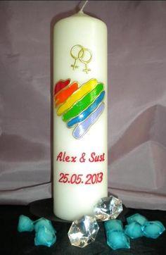 Partnerkerze für lesbische Paare von Kerzenbastler auf DaWanda.com