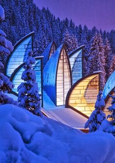 Tschuggen Grand Hotel, Switzerland - 12 Stunning Photos of Places Decorated with the Most Beautiful Element Water in Solid State