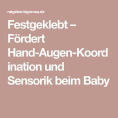 Festgeklebt – Fördert Hand-Augen-Koordination und Sensorik beim Baby