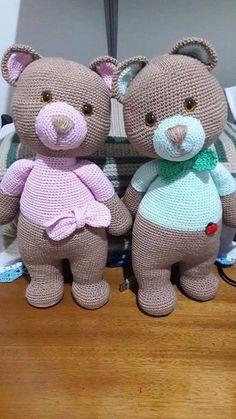Knitted Doll Patterns, Crochet Bear Patterns, Knitted Dolls, Crochet Designs, Crochet Dolls, Giraffe Crochet, Crochet Teddy, Cute Crochet, Crochet Animals