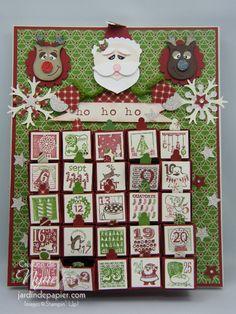 Advent calendar - Calendrier de l'avent 100% Stampin'UP