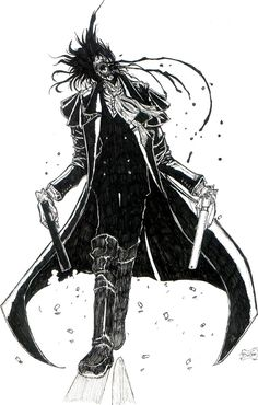 Bad ass looking alucard Manga Anime, Old Anime, Manga Art, Anime Art, Seras Victoria, Hellsing Alucard, The Ancient Magus Bride, Fanart, Susanoo