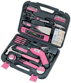 (Ship from USA) Apollo DT0773N1 TOOL SET, 135-Piece Durable Household PRECISION TOOL KIT, Pink /ITEM NO#I-86/Q-UI754415042