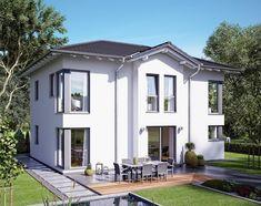 Evolution 148 V3 - Bien Zenker - http://www.hausbaudirekt.de/haus/evolution-148-v3/ - Fertighaus als Einfamilienhaus Modernes Haus Stadtvilla -