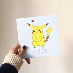 I Like Chu.  Cute Pokemon Pikachu greeting card sold in Urban Outfitters.