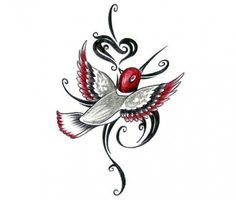 We are sure that ladies will love this beautiful humming bird temporary tattoo as it is pretty, colorful and graceful. It would look great on your arm or your shoulder, assorted with a colorful dress.