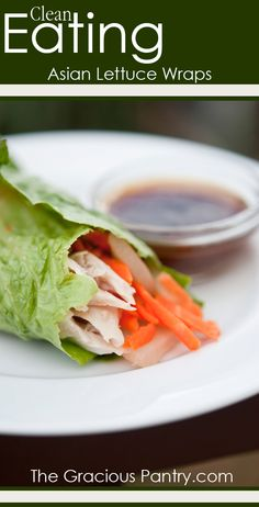 Asian Style Lettuce Wraps. #CleanEating #EatClean #Lunch