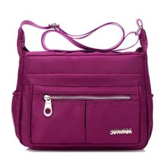 Sale 28% (19.99$) - Women Nylon Light Crossbody Bags Girls Casual Outdoor Travel Shoulder Bags Waterproof Bags