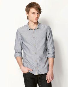Bershka Indonesia - Elbow patch detail Oxford shirt