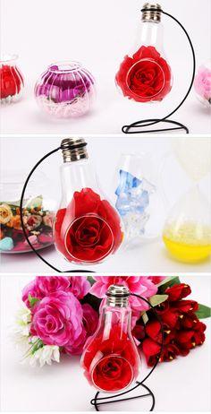 [바보사랑] 아이디어가 기발해! 스탠드 화병! /화병/스탠드/전구/인테리어용품/디스플레이/데코레이션/장식/소품/꽃/선물/Vases/Stand/Electric bulb/Interior/Display/Decorations/Props/Flower/Gift