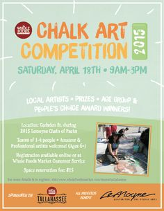 Chalk Art Competition to benefit LeMoyne Center for the Visual Arts, during the Chain of Parks Art Festival, Tallahassee, FL