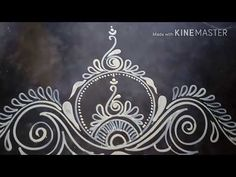sankranthi special rangoli pongal special kolam simple peacock kolam easy rangoli design - YouTube Rangoli Borders, Rangoli Border Designs, Rangoli Patterns, Rangoli Ideas, Rangoli Designs Latest, Rangoli Designs Diwali, Rangoli Designs Images, New Mehndi Designs, Free Hand Rangoli Design