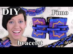 FIMO Armband (Schmuck): Polymer Clay Bracelet - Tutorial [HD/DE] (EN-Sub) - YouTube