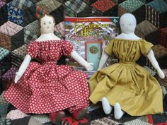 Paula Walton's rag dolls from her article in the Christmas 2014 issue of Early American Life www.izannahwalker.com