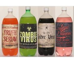 Spooky Labels for 2 Liter Bottles