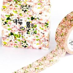 Washi Tape - Beautiful Sakura Masking Tape, Washi Tapes, Cinta Washi, Deux Faces, Make Your Own Card, Duck Tape, Summer Flowers, Gift Packaging, Quilling