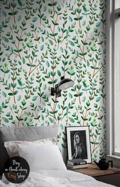 super Ideas for bathroom wallpaper floral wall murals Mural Floral, Floral Wall, Bathroom Wallpaper, Wall Wallpaper, Self Adhesive Wallpaper, Remove Wallpaper, Removable Wall, Decoration, Wall Murals