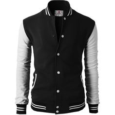 H2H Mens Slim Fit Varsity Baseball Bomber Cotton Lightweight Premium... ($35) ❤ liked on Polyvore featuring men's fashion, men's clothing, men's outerwear, men's jackets, mens slim jacket, mens light weight jackets, mens slim fit outerwear and mens cotton jacket