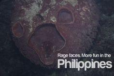 """rage faces"" in ANILAO - MORE FUN IN THE PHILIPPINES!"