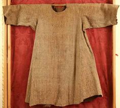 Tunic of St. Francis of Assis preserved in the church of St.Francis in Cortona, Italy (1155-1225).  According to modern research it could belong to him.