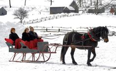 horse drawn sled images | Old-Fashioned Horse-Drawn Sleigh Rally at Old Sturbridge Village Feb ...
