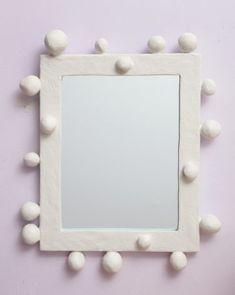 Mirror by Stephen Antonson Diy Clay, Clay Crafts, Clay Art Projects, Diy And Crafts, Mirror Shop, Mirror Art, Diy Mirror, Clay Design, Ceramic Design
