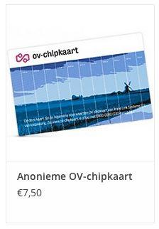 Anonieme OV-chipkaart € 7,50 www.ovstore.nl/nl/collection