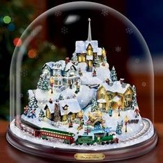 Rachel's house and her town were made famous by her grandfather's artwork. He made incredibly intricate, beautiful images of Christmas inside snow globes.