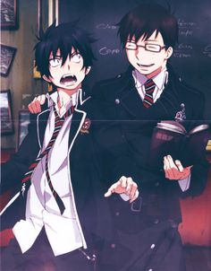 """I love this. Rin's face is just like, """"What!? I don't want to freaking study!! I'll throw that book at your head!!"""""""