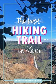 One of the best things to do in Kauai is hike the Waimea Canyon Trail! Full of adventure and beauty, this trail has the best views of Kauai. Includes hiking tips for Kauai, what to wear hiking Kauai and a guide for hiking Waimea Canyon in Hawaii. Kauai Hawaii, Hawaii Travel, Oahu, Travel Usa, Beach Travel, Hawaii Life, Beach Vacations, Hawaii Vacation, Canada Travel