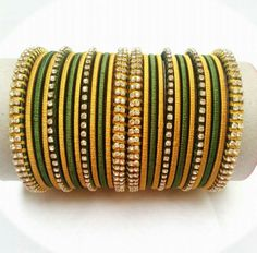 Silk Thread Bangles, Thread Jewellery, Thread Bangles Design, Bridal Chura, Bridal Bangles, Thread Art, Imitation Jewelry, Jewelry Patterns, Bead Crafts