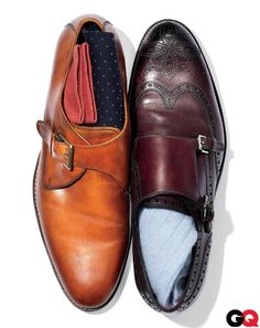 singles or doubles, you'll stand out -- leather monk strap shoes // 2015 menswear fashion + style trends