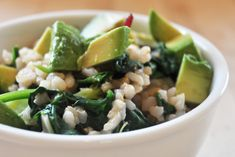 Macrobiotic Breakfast: Brown Rice Green Bowl
