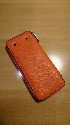 Valextra Zip Key Holder, 6 Hook, Large  V1L87-028-00AR-RD Orange 44,000JPY+tax  #Valextra #KeyHolder #KeyCase