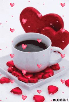 Morning messages, morning greeting, morning quotes, tea gif, good morning h