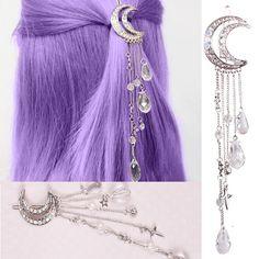 Moon Crystal Tassels Hair Clips AWH0003