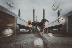 Photo by Olga Kolmogorova #photography #ideas #photo #levitation #art #abstract #abstraction #левитация #clock #watch #fly #bridge #foto #black