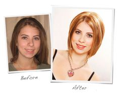 From blah blah brown to a fiery red/blonde bob...Emily's makeover was a success! Click to get the details ;)
