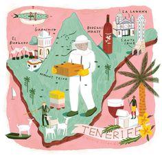 Carte illustrée Tenerife