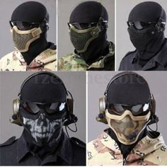 Airsoft mask metal mesh half face #protection outdoor #paintball tactical #strike,  View more on the LINK: 	http://www.zeppy.io/product/gb/2/381650869887/