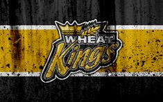 Download wallpapers Brandon Wheat Kings, 4k, grunge, WHL, hockey, art, Canada, logo, stone texture, Western Hockey League
