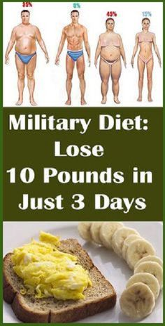 Military Diet, Lose 10 Pounds in Just 3 Days Naturally However, the military diet is a perfect diet to maintain their health in a natural way and able to remain alive in any circumstances of life and this diet is not that firm and allows the replacement of one fruit with another and you can …