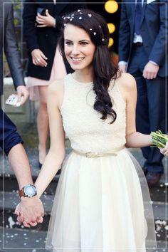 elegant lace bridal dresses courthouse wedding ideas #cityhallweddingideas #elegantweddinginvites